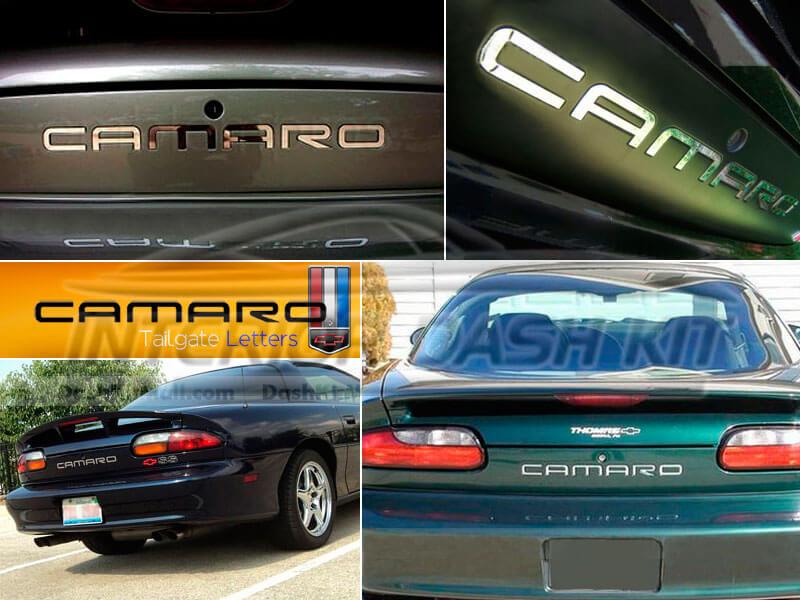 Chevrolet camaro 1992 2002 rear bumper letters chrome for Chevy chrome letters