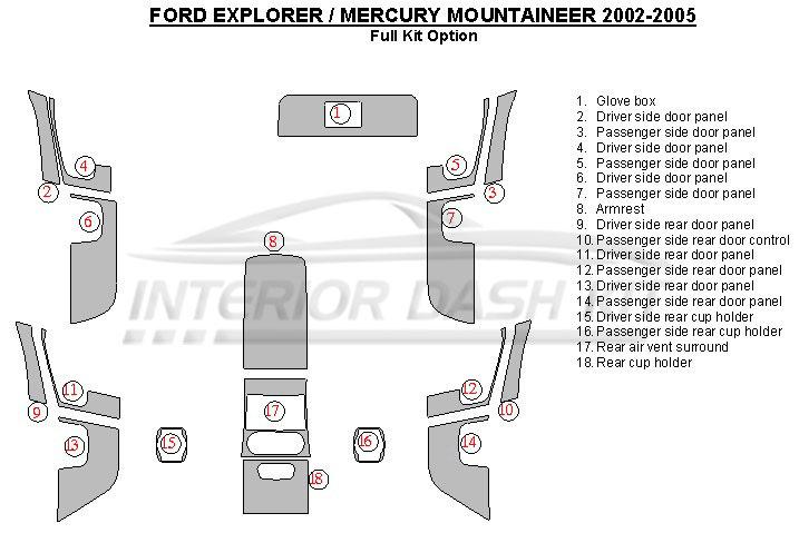2015 ford explorer door handle diagram